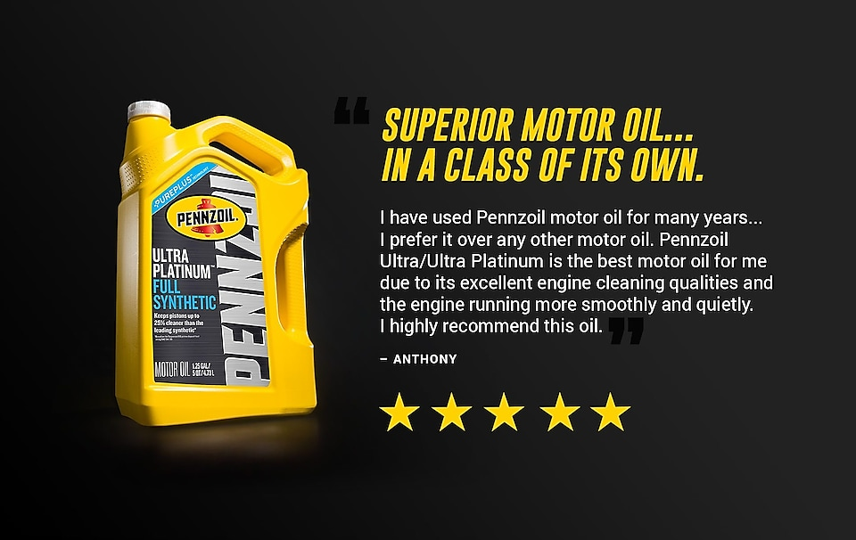 Pennzoil Review Superior Motor Oil