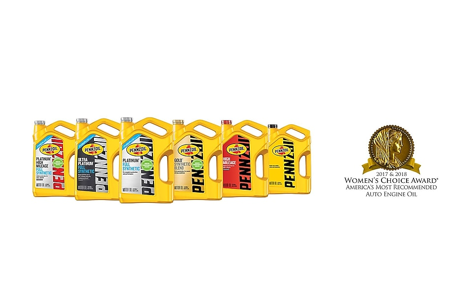 Pennzoil Receives 2018 Women's Choice Award