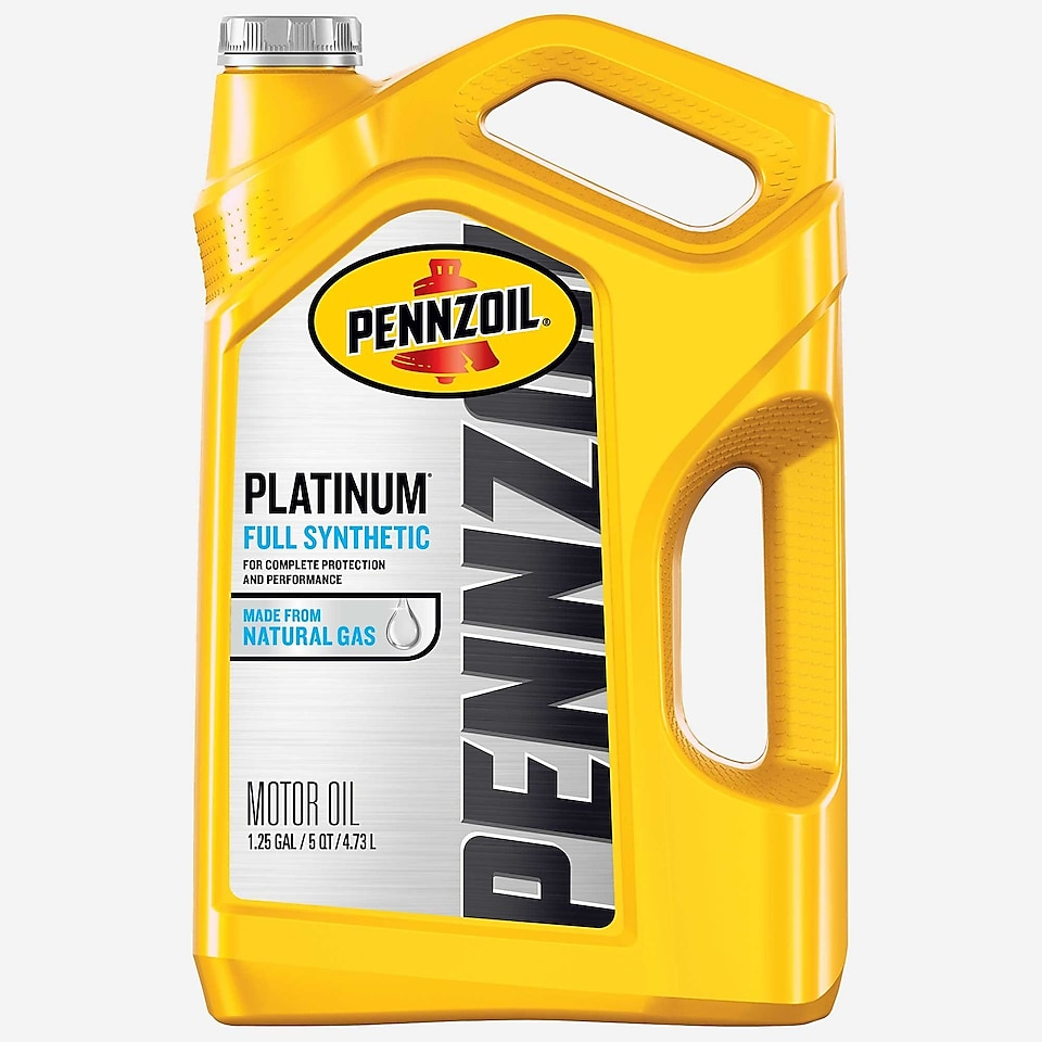 Pennzoil PurePlus Platinum Full Synthetic Motor Oil 5 QT Bottle