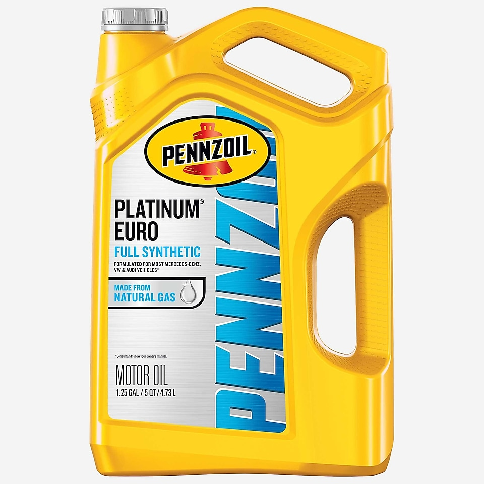 Pennzoil PurePlus Platinum Euro Full Synthetic Motor Oil 5 QT Bottle