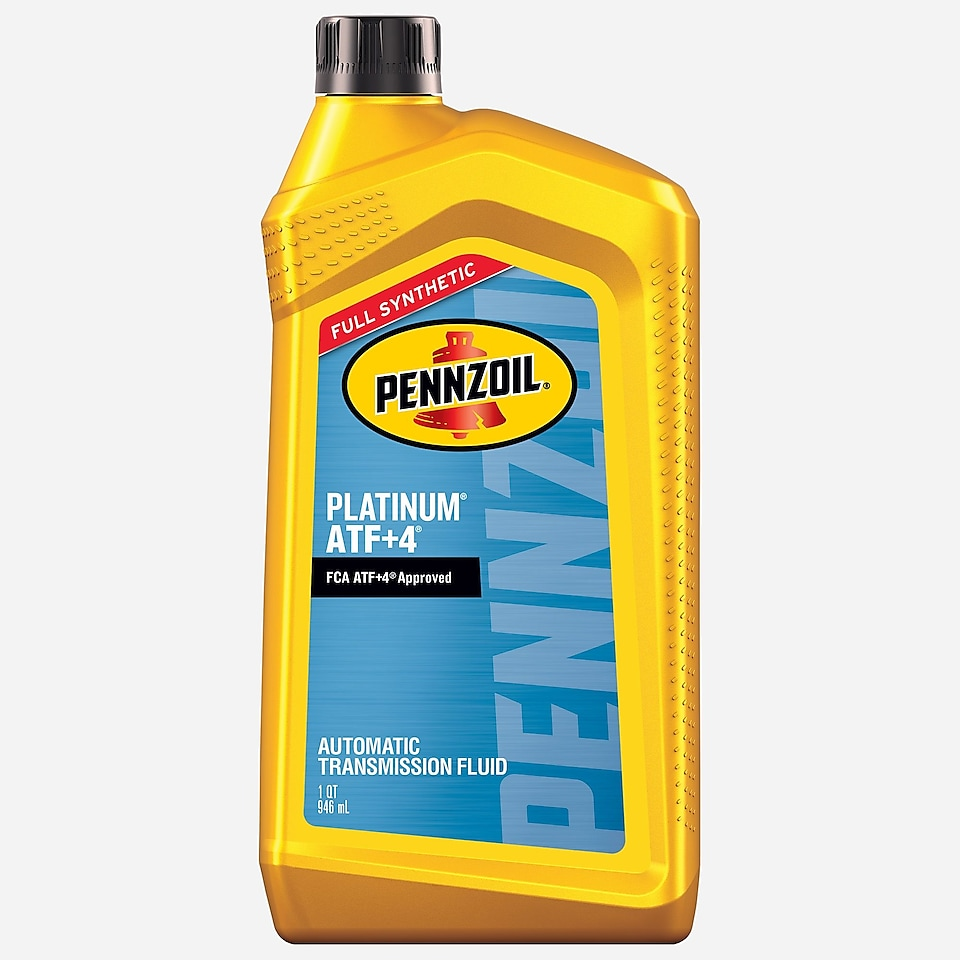 Pennzoil Platinum ATF + 4 Full Synthetic Automatic Transmission Fluid 1 QT Bottle