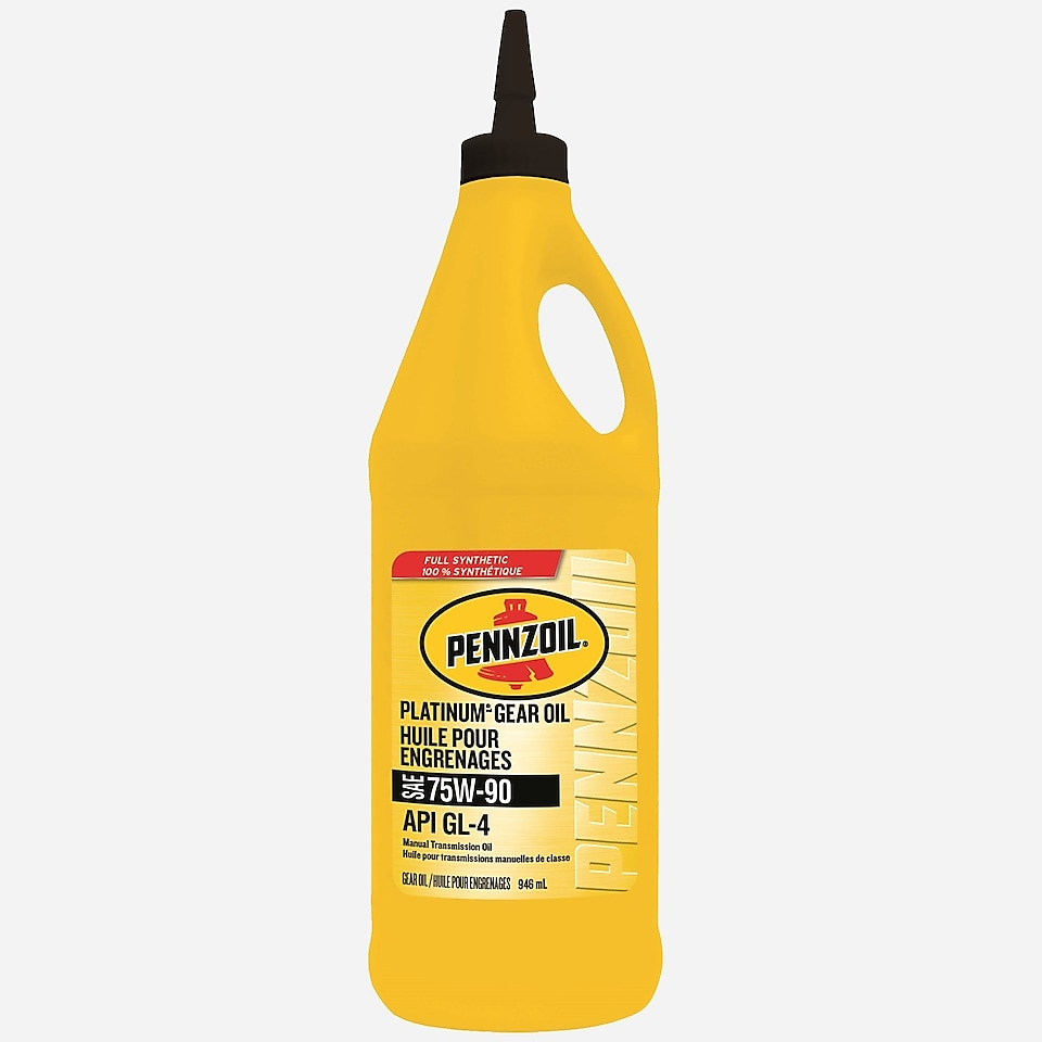 Pennzoil Platinum Full Synthetic 75W-90 Gear Oil 1 QT Bottle