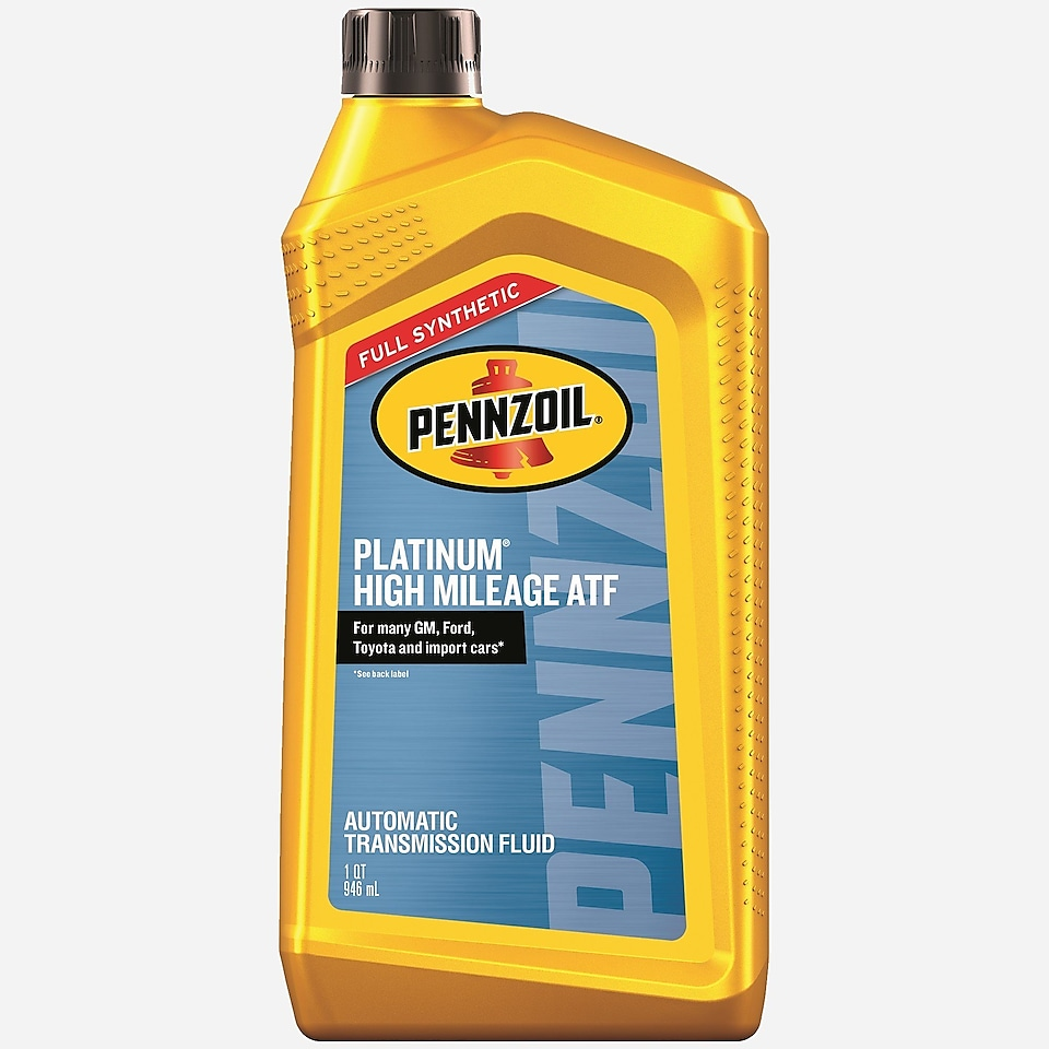 Pennzoil Platinum High Mileage ATF Full Synthetic Automatic Transmission Fluid 1 QT Bottle